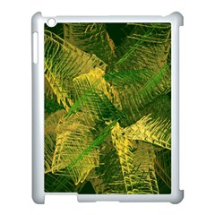 Green And Gold Abstract Apple Ipad 3/4 Case (white) by linceazul