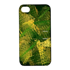 Green And Gold Abstract Apple Iphone 4/4s Hardshell Case With Stand by linceazul