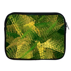 Green And Gold Abstract Apple Ipad 2/3/4 Zipper Cases by linceazul