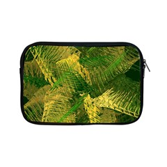 Green And Gold Abstract Apple Ipad Mini Zipper Cases by linceazul
