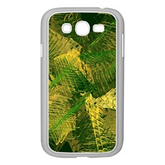 Green And Gold Abstract Samsung Galaxy Grand Duos I9082 Case (white) by linceazul