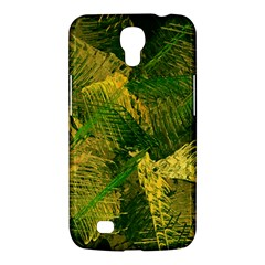 Green And Gold Abstract Samsung Galaxy Mega 6 3  I9200 Hardshell Case by linceazul