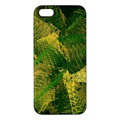 Green And Gold Abstract Iphone 5s/ Se Premium Hardshell Case by linceazul