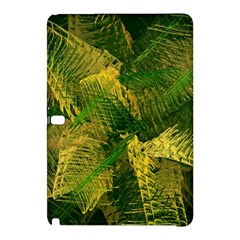 Green And Gold Abstract Samsung Galaxy Tab Pro 12 2 Hardshell Case by linceazul