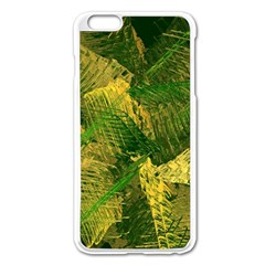 Green And Gold Abstract Apple Iphone 6 Plus/6s Plus Enamel White Case by linceazul
