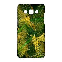 Green And Gold Abstract Samsung Galaxy A5 Hardshell Case  by linceazul