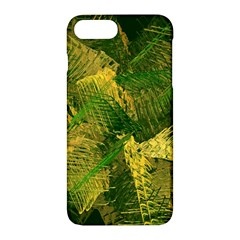 Green And Gold Abstract Apple Iphone 7 Plus Hardshell Case by linceazul