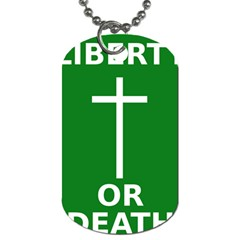 Battle Of Arklow Flag Dog Tag (one Side) by abbeyz71