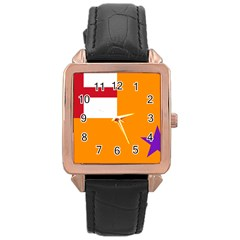 Flag Of The Orange Order Rose Gold Leather Watch  by abbeyz71