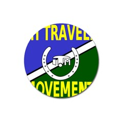Flag Of The Irish Traveller Movement Magnet 3  (round) by abbeyz71