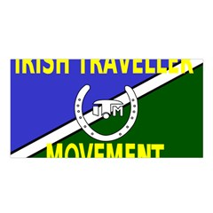 Flag Of The Irish Traveller Movement Satin Shawl by abbeyz71