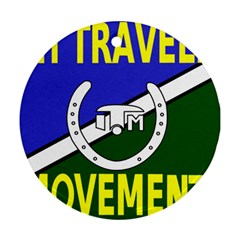 Flag Of The Irish Traveller Movement Round Ornament (two Sides) by abbeyz71