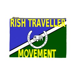 Flag Of The Irish Traveller Movement Cosmetic Bag (large)  by abbeyz71