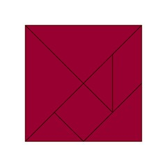 Flag Of The Apprentice Boys Of Derry Acrylic Tangram Puzzle (4  X 4 ) by abbeyz71