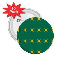 32 Stars Fenian Flag 2 25  Buttons (10 Pack)  by abbeyz71