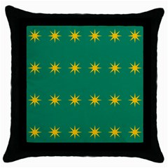 32 Stars Fenian Flag Throw Pillow Case (black) by abbeyz71
