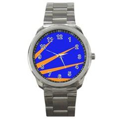 Sunburst Flag Sport Metal Watch by abbeyz71