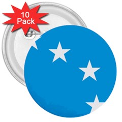 Starry Plough Flag 3  Buttons (10 Pack)  by abbeyz71