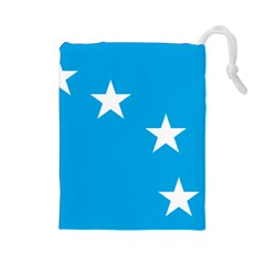 Starry Plough Flag Drawstring Pouches (large)  by abbeyz71
