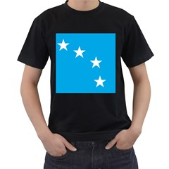 Starry Plough Flag Men s T Shirt (black) (two Sided) by abbeyz71