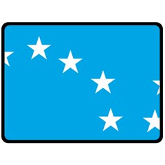 Starry Plough Flag Fleece Blanket (large)  by abbeyz71