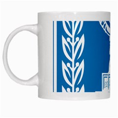 Emblem Of Israel White Mugs by abbeyz71