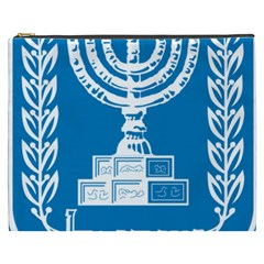 Emblem Of Israel Cosmetic Bag (xxxl)  by abbeyz71