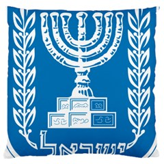 Emblem Of Israel Standard Flano Cushion Case (one Side) by abbeyz71
