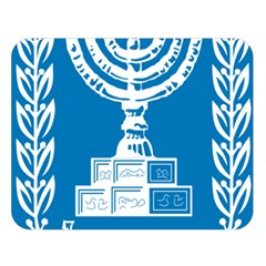 Emblem Of Israel Double Sided Flano Blanket (large)  by abbeyz71