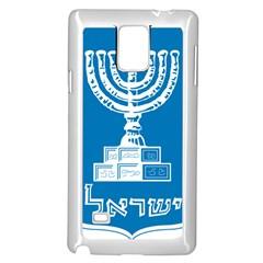 Emblem Of Israel Samsung Galaxy Note 4 Case (white) by abbeyz71