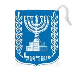Emblem Of Israel Drawstring Pouches (extra Large)