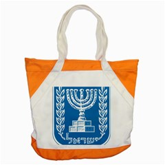 Emblem Of Israel Accent Tote Bag by abbeyz71