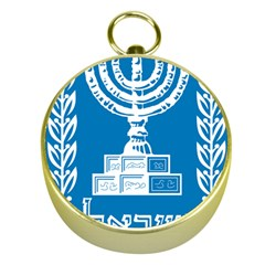 Emblem Of Israel Gold Compasses by abbeyz71