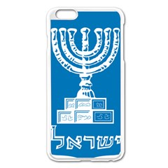 Emblem Of Israel Apple Iphone 6 Plus/6s Plus Enamel White Case by abbeyz71