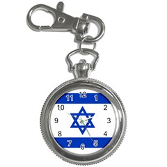 Flag Of Israel Key Chain Watches by abbeyz71