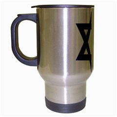 Flag Of Israel Travel Mug (silver Gray) by abbeyz71