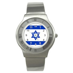 Flag Of Israel Stainless Steel Watch by abbeyz71