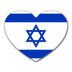 Flag Of Israel Heart Mousepads by abbeyz71