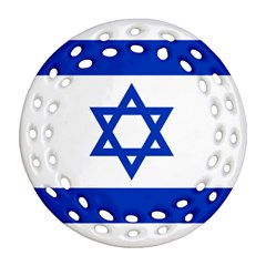 Flag Of Israel Ornament (round Filigree) by abbeyz71