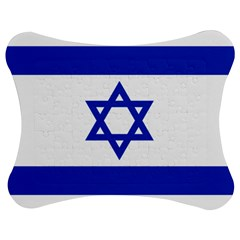 Flag Of Israel Jigsaw Puzzle Photo Stand (bow) by abbeyz71
