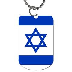 Flag Of Israel Dog Tag (two Sides) by abbeyz71