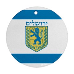Flag Of Jerusalem Ornament (round) by abbeyz71