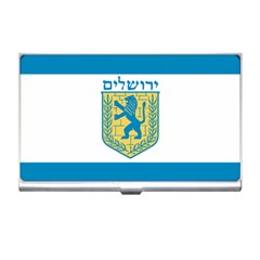 Flag Of Jerusalem Business Card Holders by abbeyz71