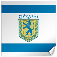 Flag Of Jerusalem Canvas 12  X 12   by abbeyz71