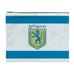 Flag Of Jerusalem Cosmetic Bag (xl) by abbeyz71