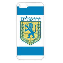 Flag Of Jerusalem Apple Iphone 5 Seamless Case (white) by abbeyz71