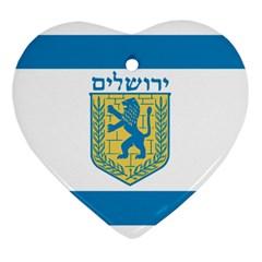 Flag Of Jerusalem Ornament (heart) by abbeyz71