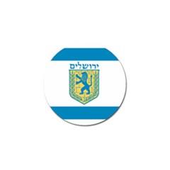 Flag Of Jerusalem Golf Ball Marker (10 Pack) by abbeyz71