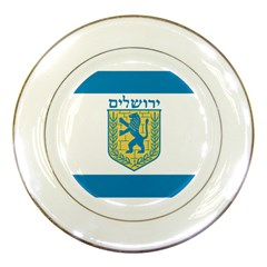 Flag Of Jerusalem Porcelain Plates by abbeyz71