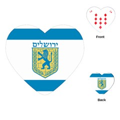 Flag Of Jerusalem Playing Cards (heart)  by abbeyz71